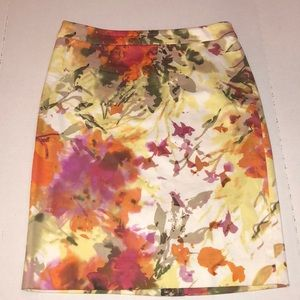 J. Crew The Pencil Skirt Floral Size 2